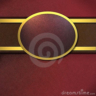 Rich red and gold background with copy space