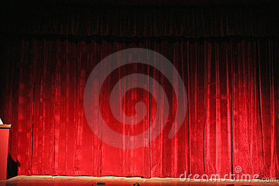 Rich red, opera theatre curtain