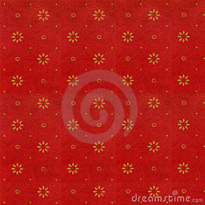Free Rich Red With Tiny Gold Flower Stock Image - 2700901