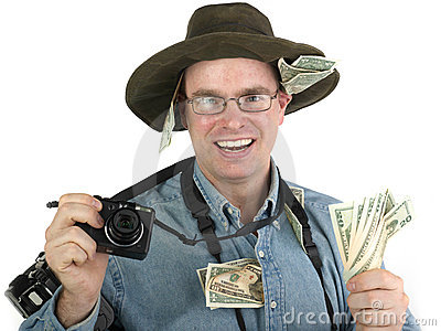 Rich tourist photographer