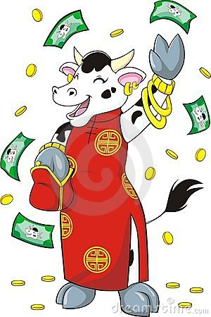 Rich Wealthy Cow