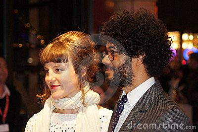 Richard Ayoade en la premier submarina Foto de archivo editorial