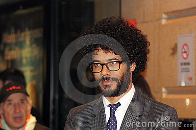 Richard Ayoade na premier submarina Imagem Editorial