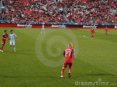 Richard Eckersley with Toronto FC Editorial Photo