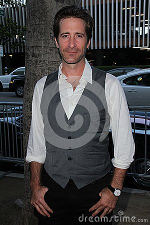 Richard Gunn at the World Premiere of  Editorial Stock Photo