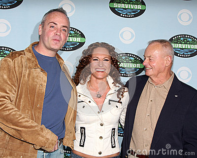Richard Hatch,Rudy Boesch,Jerri Manthey Editorial Stock Image