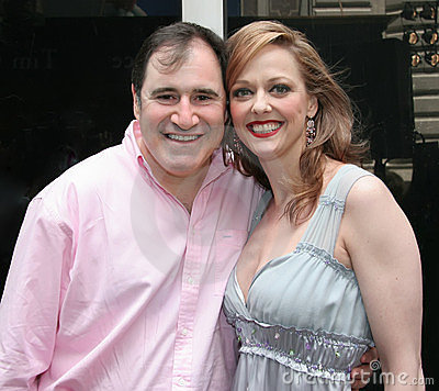 Richard Kind and Angie Schworer Editorial Stock Photo