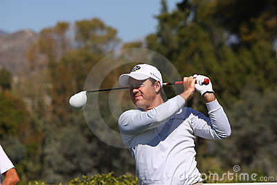 Richard Sterne at Andalucia Golf Open, Marbella Editorial Stock Photo