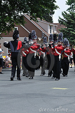 Richfield High School Marching Band in a Parade Editorial Image