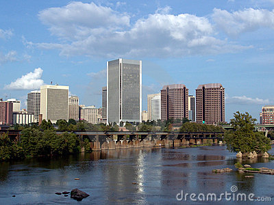 Downtown Richmond Virginia Royalty Free Stock Image - Image: 1553876