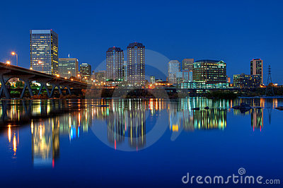 Richmond, Virginia Skyline at Night