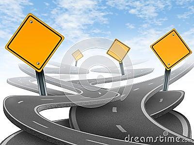 Richtungen und Durcheinander