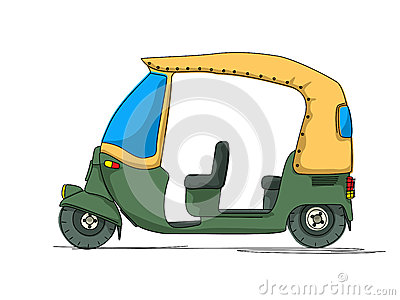 Rickshaw cartoon