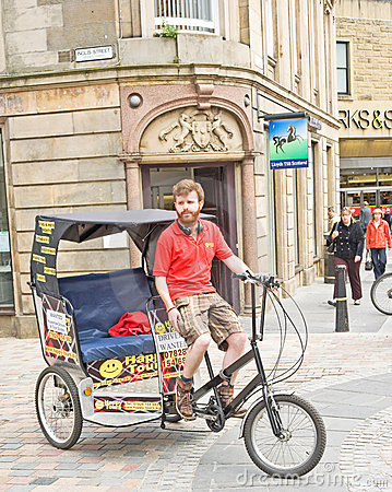 Rickshaw comes to Inverness ! Editorial Stock Photo