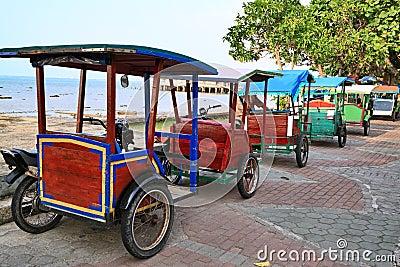 Rickshaw in Indonesia