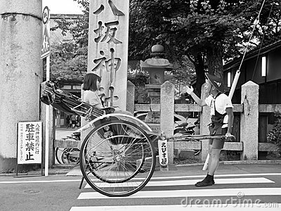 Rickshaw, Japanese transport Editorial Image