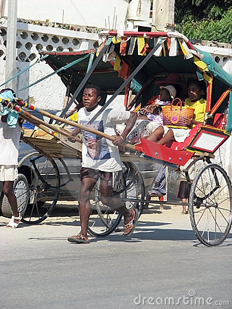 Rickshaw in Tulear Editorial Photo