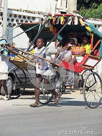 Rickshaw in Tulear Editorial Photo