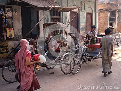 Rickshaws in Banares