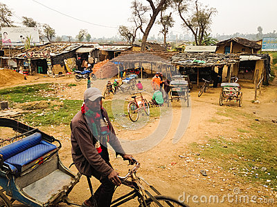 Rickshaws in Kohalpur Editorial Stock Image
