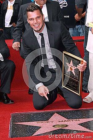 Ricky Martin Editorial Photo