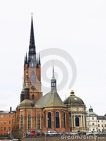 Riddarholm Church (Riddarholmskyrkan) in Stockholm