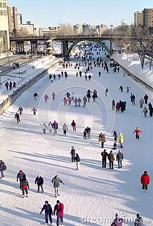 Free Rideau Canal Skating, Ottawa Ontario Canada Stock Photography - 2327372