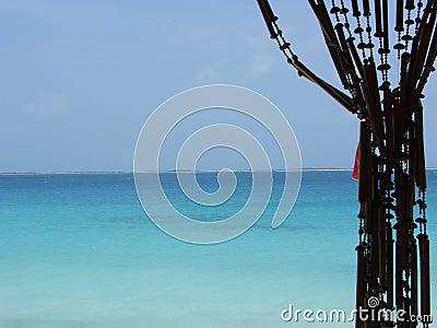 Rideau en océan