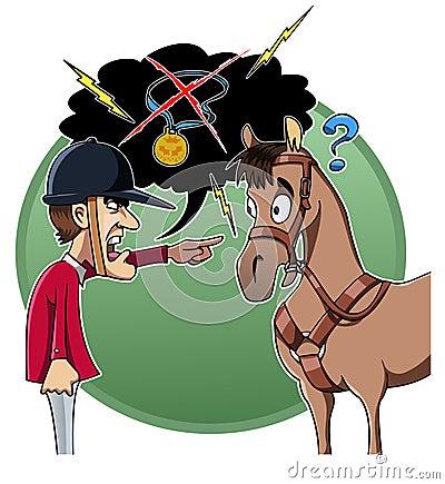 Rider blames his horse