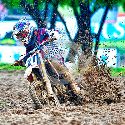 Rider at Dementor Cup Championship Editorial Stock Image