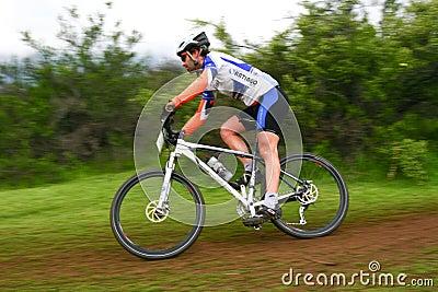 Rider downhill Editorial Photo