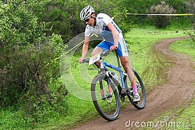 Rider downhill Editorial Stock Image