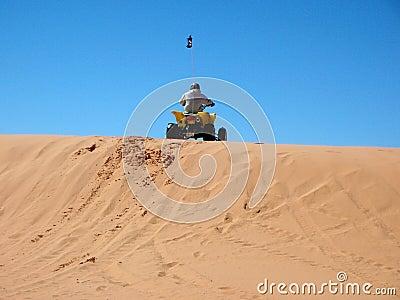 rider on the dunes