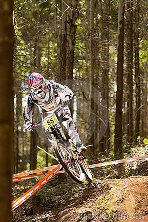 Rider at Greg Minaar Racing and Mongoose Downhill Editorial Photography