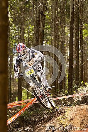 Rider at Greg Minaar Racing and Mongoose Downhill Editorial Photography