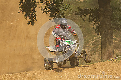Rider leaves steep slope Editorial Photography