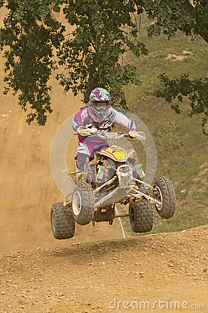 Rider leaves steep slope. Vertically. Editorial Image