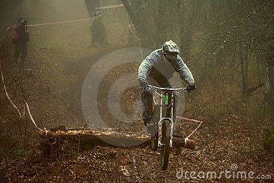 Rider on a mountain bike Editorial Photography