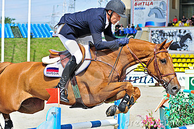 Rider on show jump horse Editorial Photography