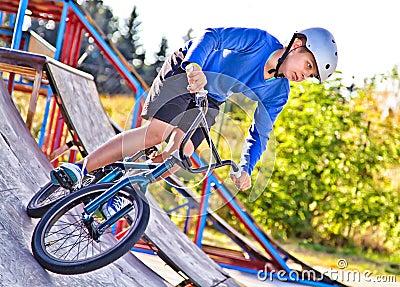Rider in the skatepark