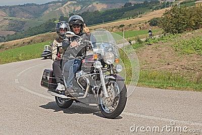 Riders On A Moto Guzzi California Classic Editorial Photo ...