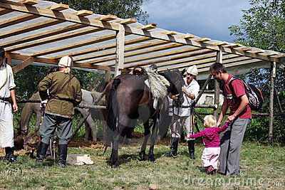 Riders preparing for a demonstration Editorial Photography