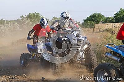 Riders on quad bikes Editorial Photo