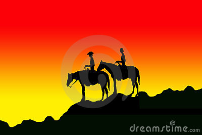 Riders silhouettes