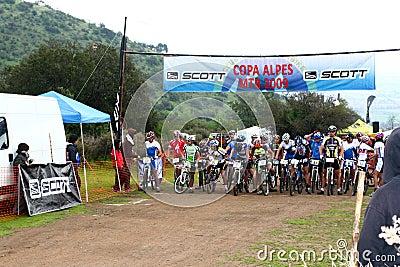 Riders on start Editorial Image