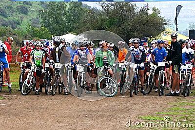 Riders on start Editorial Photo