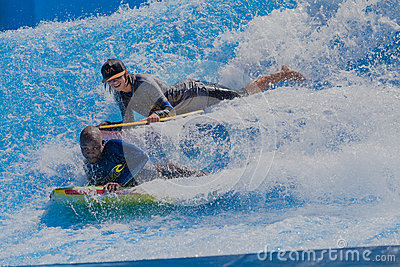 Riders Two Wave Pool Editorial Photography