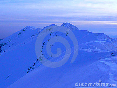 Ridge into sunset light