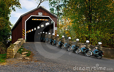 Riding Through the Covered Bridge