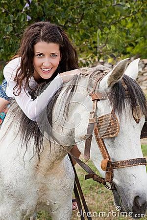 Riding a farm horse